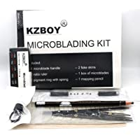 KZBOY Microblading Kit with Microblading Handle, Practice Skin, Microblades and others for Microblading Student