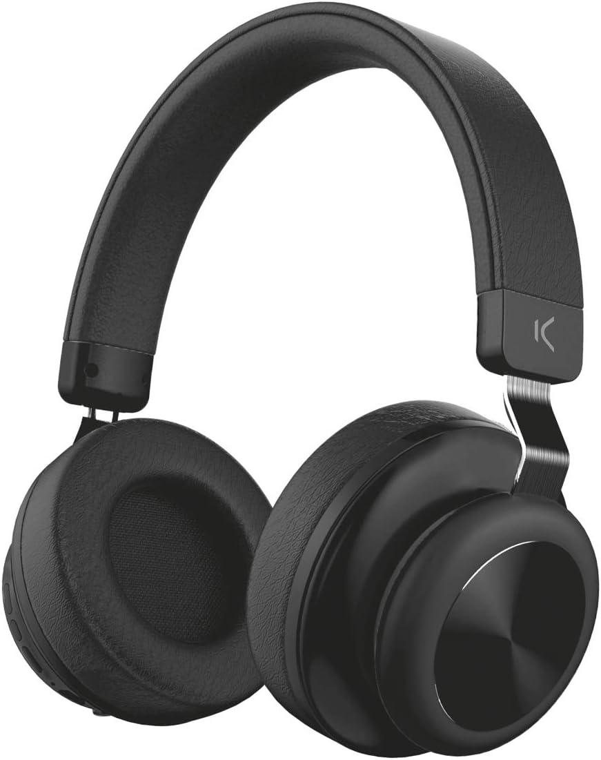 Auriculares Retro Ksix Estereo Inalambricos Negro