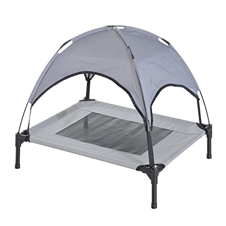 Amazon.com: Festnight Elevated Cooling Pet Dog Bed Cot with Canopy Shade Indoor or Outdoo 30