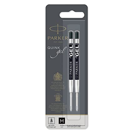 colore blu compatibile anche con penne Parker punta media Confezione 5 ricariche per penna a sfera