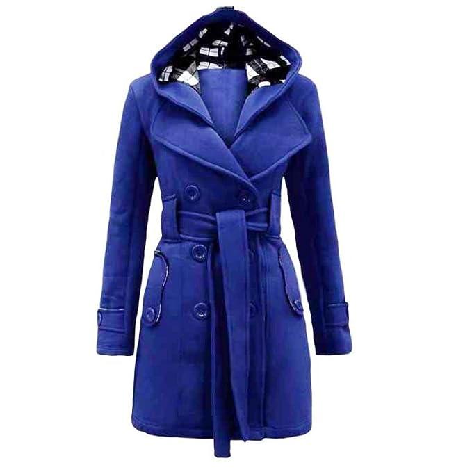 cappotto donna doppiopetto blu dd1392 aiagorizia.it