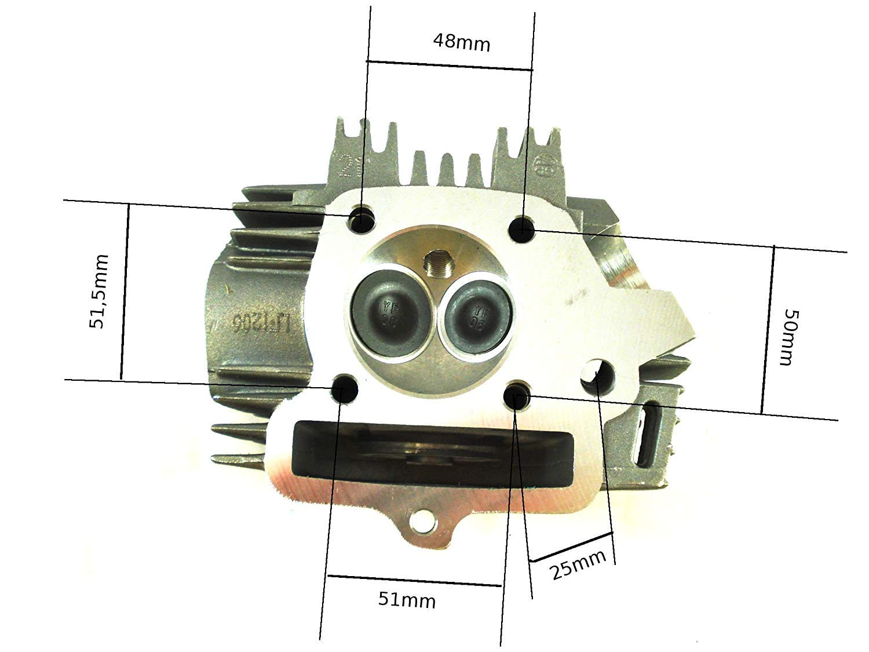 hmparts Amortiguador MOTO Moto Cross Mono Cabeza Cilindro//CABEZA CIL/ÍNDRICA LIFAN 125cc