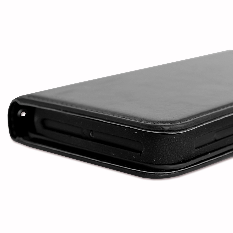 PH26/® Etui housse folio pour Homton H26 format portefeuille en /éco-cuir rose avec double clapet int/érieur porte cartes fermeture magn/étique et surpiqures apparentes