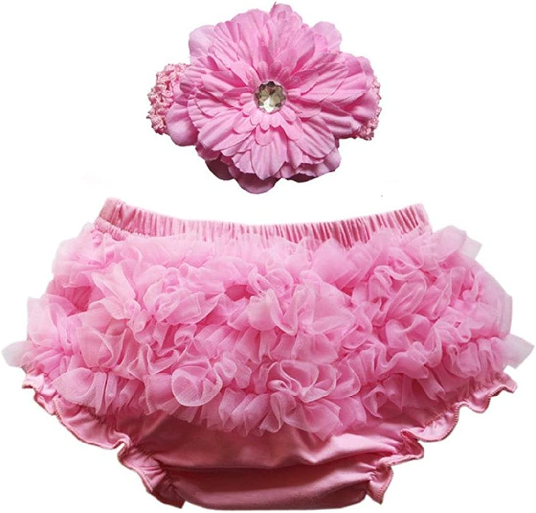 Koly Baby Girls Lace Ruffle Panties Briefs Infant Diaper Cover Pants Shorts
