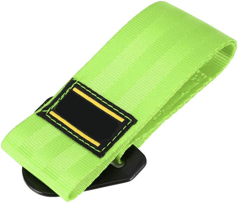 10.8in Front Rear Bumper Hook Racing Tow Strap Recovery Tow Strap with Hooks KIMISS 2 Tons High Strength Car Trailer Towing Rope Green