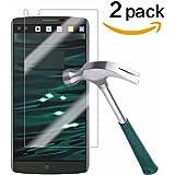 LG V10 Screen Protector,TANTEK [Bubble-Free][HD-Clear][Anti-Scratch][Anti-Glare][Anti-Fingerprint] Premium Tempered Glass Screen Protector for LG V10,[Lifetime Warranty]-[2Pack]
