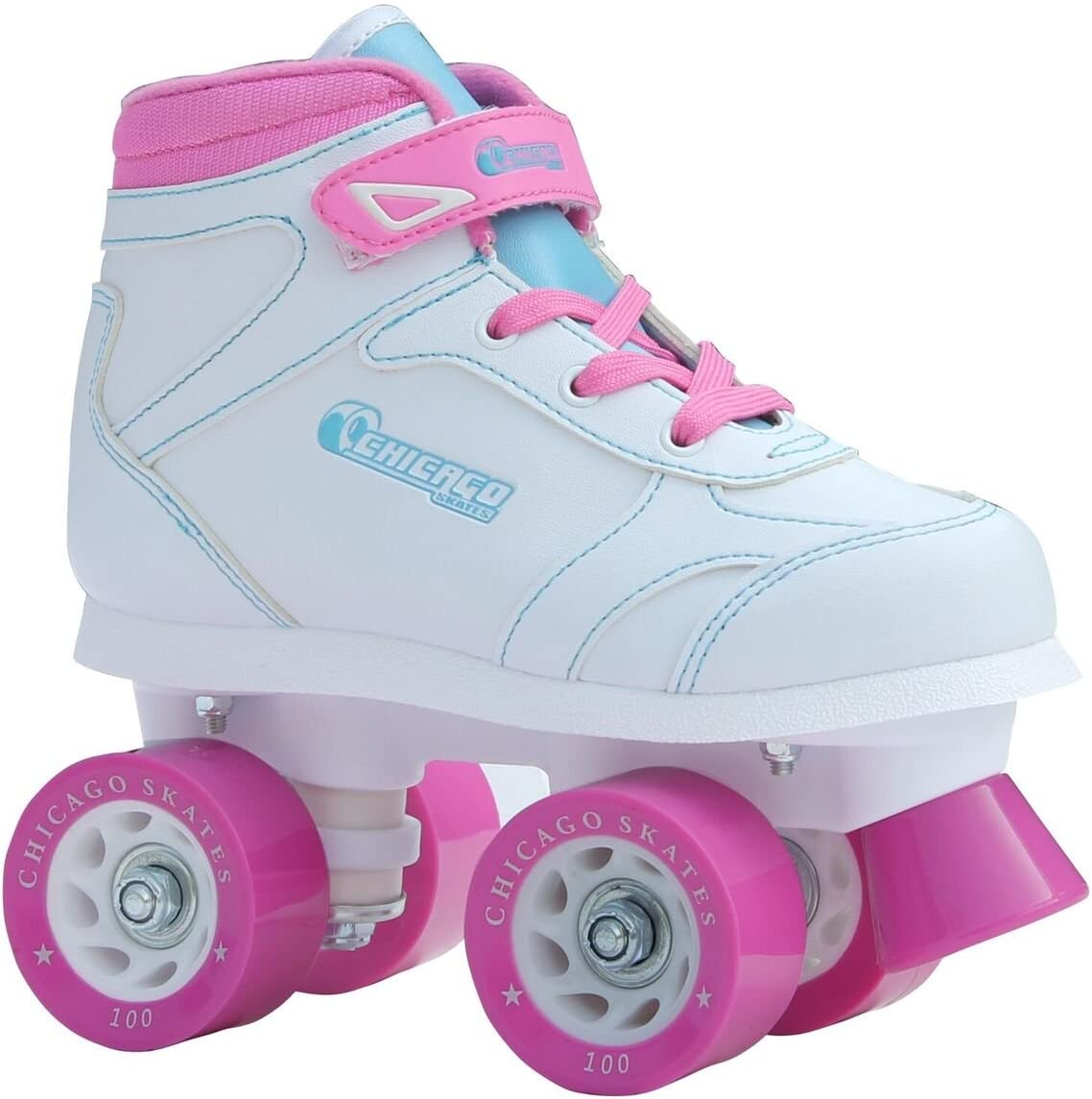 Chicago Girls Sidewalk Roller Skate – White Youth Quad Skates