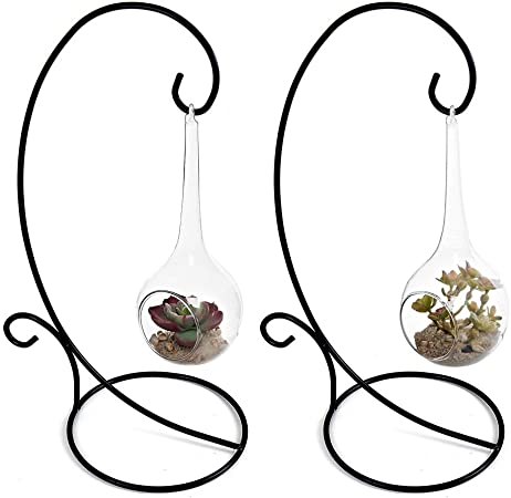 2PCS Display Stand Iron Ornament Holder Hanging Stand for Ornament Terrarium