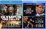 Presidential Action movies Clint Eastwood In the Line of Fire + Harrison Ford Air Force One & Olympus Has Fallen Blu Ray Bundle Crime Action Pack 3 Movie Set Feature Films