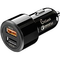 Cargador de Coche QC 3.0+5V/2.4A Puerto USB, CHGeek 80W Adaptador Doble Encendedor de Cigarrillos, Carga Rápida para…