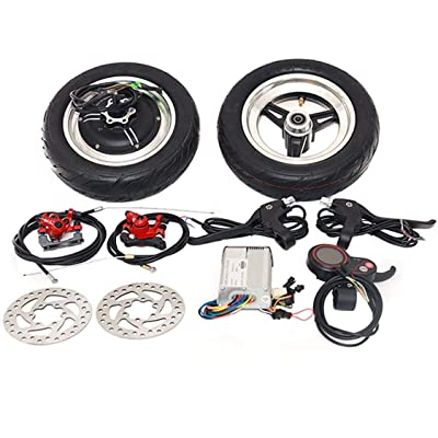 Electric Scooter Motor 10 inch Electric Hub Motor Wheel 36V 48V Scooter Wheel Motor Accessories Brushless Motor high Speed Electric Bicycle Conversion kit (48V1000W Kit-60km/h) : Sports & Outdoors