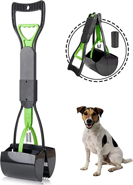 POPETPOP Pet Pooper Scooper Waste Picker Utility High Quality Portable Effective Cleaning Shovel for Cats Pets Outdoor Dogs