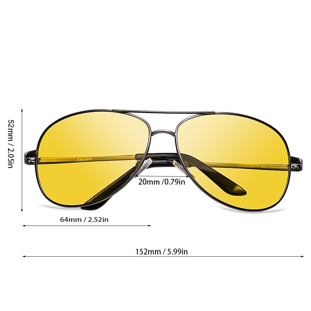 Zheino 5904 Full Mirror Sun Glasses Men Women Pilot Polarized Anti Glare Driving Glasses Riding Sports Eyewear