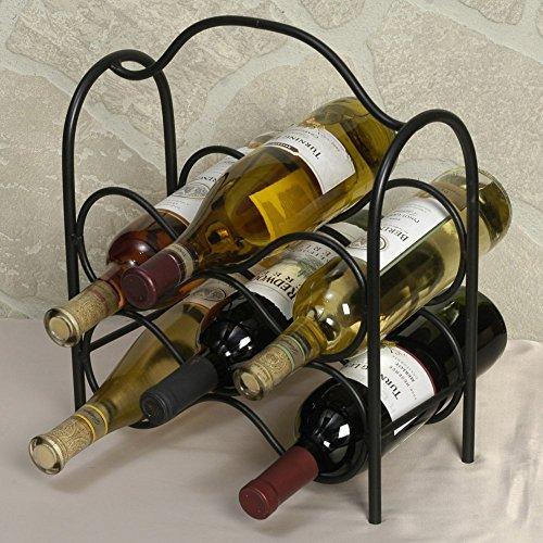 (J&J Wire Wine Rack, Holds Six Bottles)