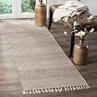 Safavieh Montauk Collection MTK330M Ivory and Steel Grey Runner (23 x 10)