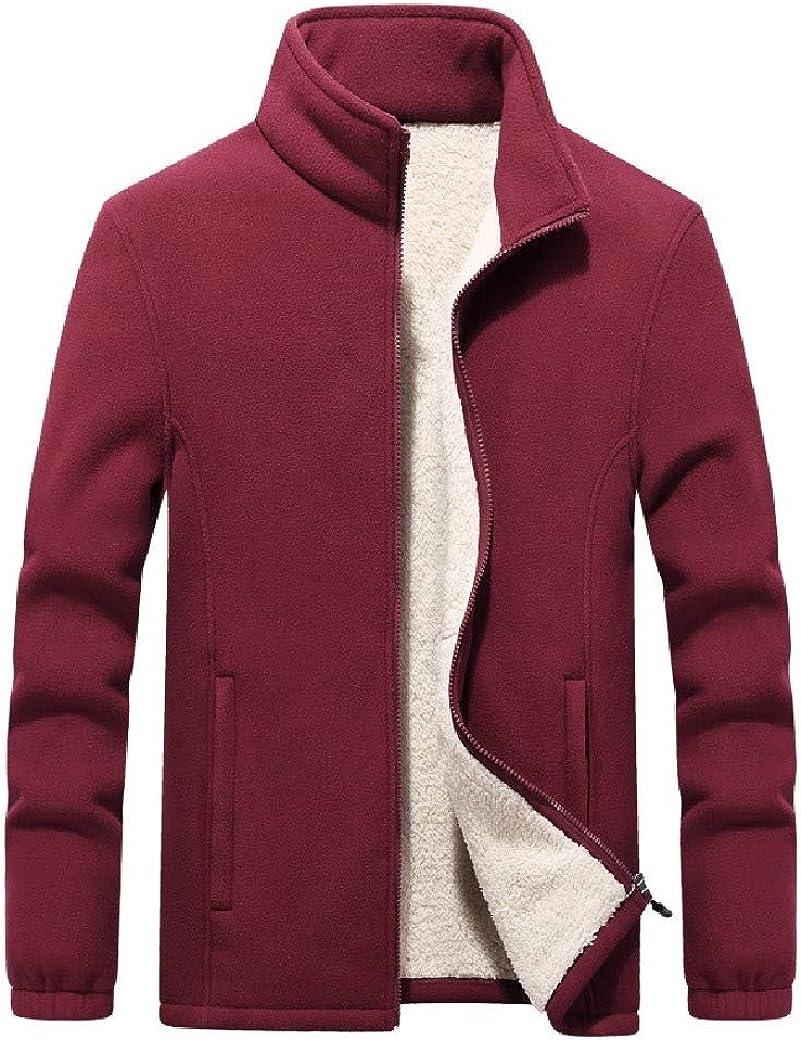 DressU Mens Coat d Plus-Size Jacke Fleece Casual Sweatshirts Top Blouse