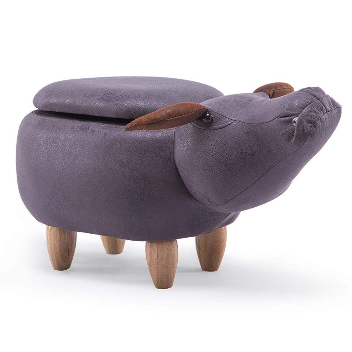 D Storage GAIXIA-Sofa stool Low Stool Change shoes Bench Sofa Stool Cow Piernnel Hall Storage shoes Bench Cartoon Animal Stool Storage Footstool 69x35x37cm (color   D, Size   Storage)