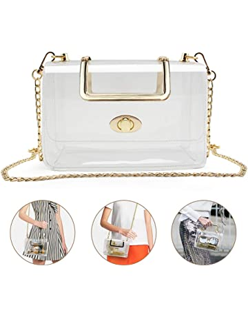 f9833b76529 Clear Purse for Women Girls, Coromay Clear Crossbody Bag NFL   PGA Stadium  Approved