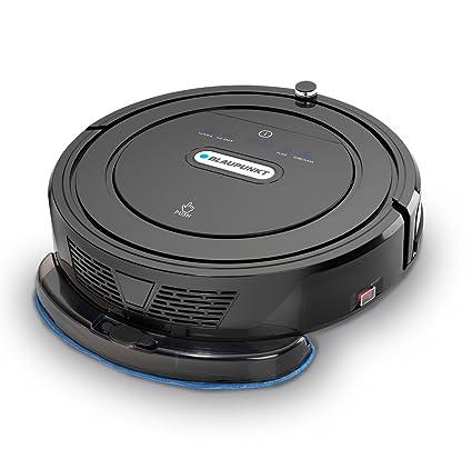Blaupunkt Robot de aspiración con función limpiadora (automática Aspirador robot aspiradora) bluebot, filtro HEPA & nasswischfunktion para alérgicos, ...