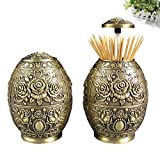 European-style pressing style toothpick automatic toothpick box fashion creative living room toothpick barrel-G