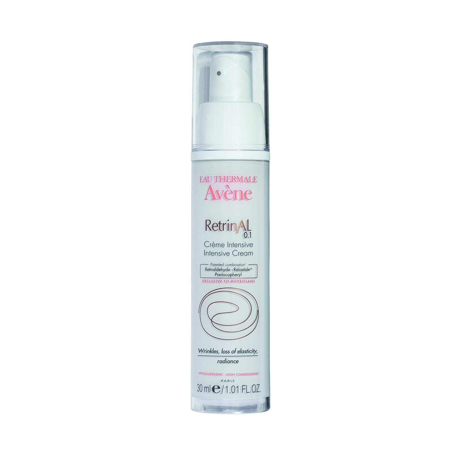 Eau Thermale Avène RetrinAL 0.1 Intensive Cream, Retinaldehyde, Reduce Signs of Aging, Brighten & Rejuvenate Skin, 1.01 oz.