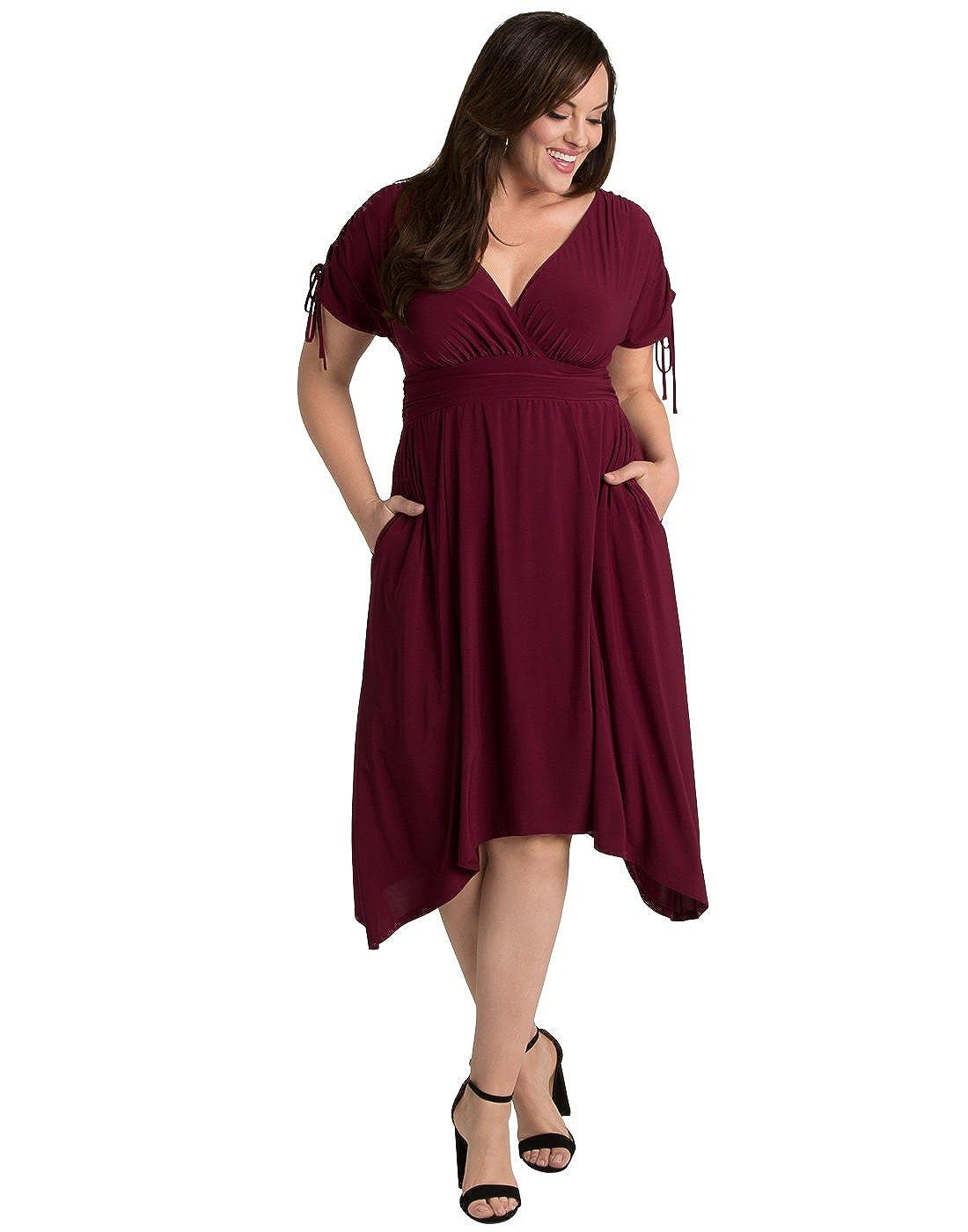 Kiyonna Women\'s Plus Size Tessa Ruched Dress