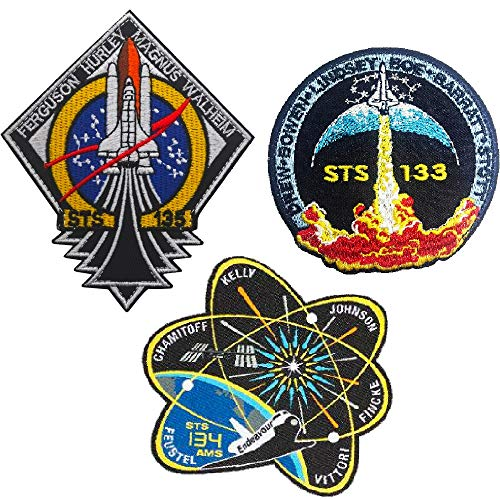 Oyster-Patch 4pcs NASA Meatball 100th Space Shuttle Mission Tactical Patch (STS 3pcs)