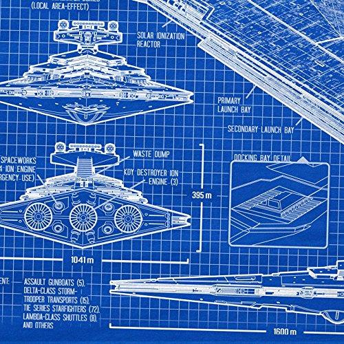 A.N.T. Sternenzerstörer T-Shirt für Kinder blaupause raumschiff ...