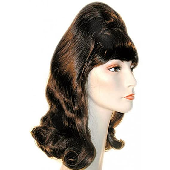 Vintage Hair Accessories: Combs, Headbands, Flowers, Scarf, Wigs Morris Costumes Beehive Pageboy Wig $34.26 AT vintagedancer.com