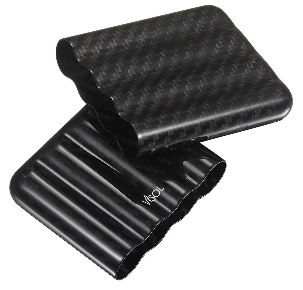 Visol Products VCASE785 Landon Carbon Fiber Mini Cigarillo Case