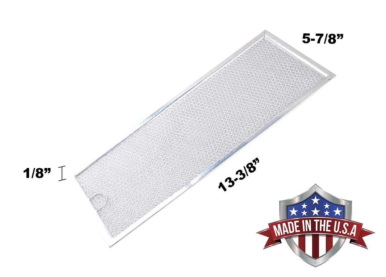 Samsung DE63-00196A 5-7//8 x 13-3//8 x 1//8 Microwave Grease Filter WB06X10596 Replacement For Many GE Microwaves Made in USA 2-Pack
