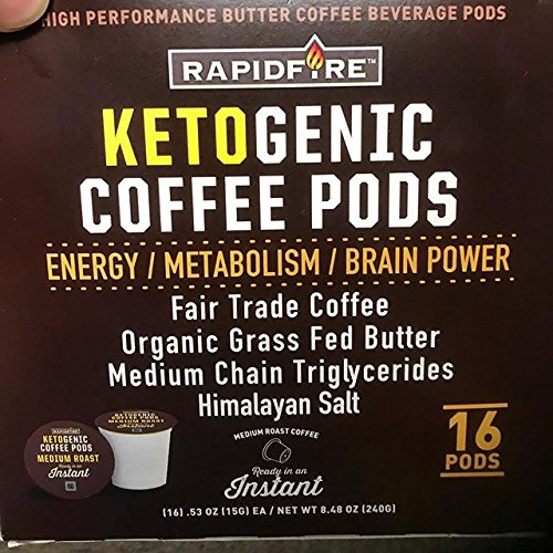 - Rapid Fire Ketogenic High Performance Coffee Pods, Supports Energy and Metabolism, 16 Servings, Packaging May Vary