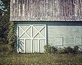 Farmhouse Decor Landscape Photography in Soft Teal, Aqua and Green. 'Charlton Girls School Barn.'