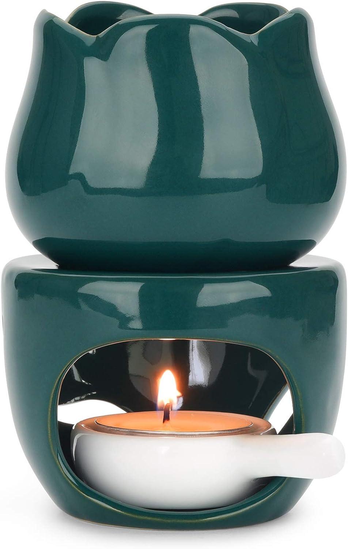 ComSaf Wax Melt Burners Essential Oil Burner, Aromatherapy Aroma Burner Ceramic Oil Diffuser Candle Tealight Holder Home Bedroom Decor Christmas Housewarming Gift
