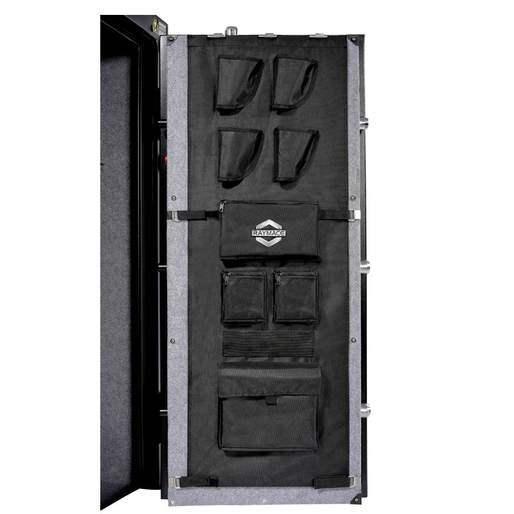 Raymace Large Gun Safe Door Panel Organizer 16 1/2W-19 9/10W inch 47 1/4 inch Adjustable Storage Solution for Long Gun Safe Cabinet by Raymace