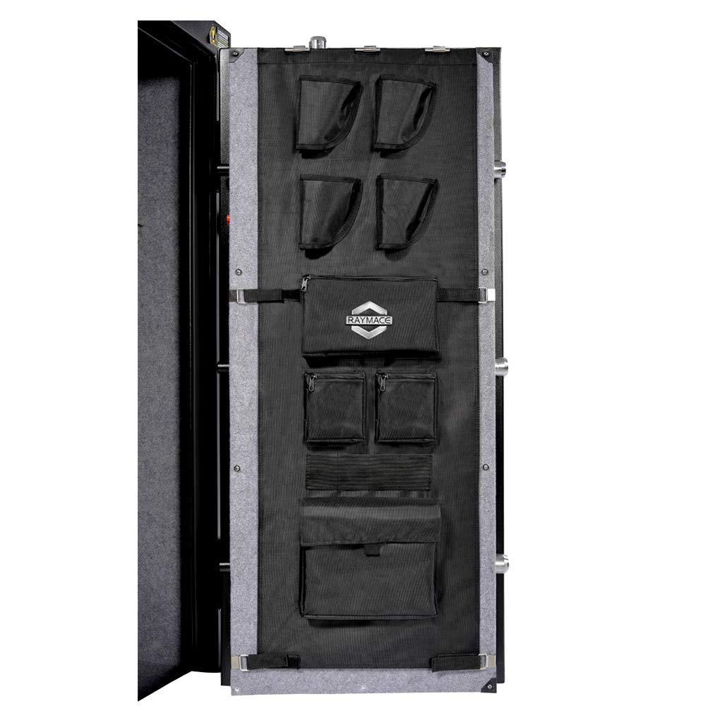 Raymace Large Gun Safe Door Panel Organizer 16 1/2W-19 9/10W inch 47 1/4 inch Adjustable Storage Solution for Long Gun Safe Cabinet