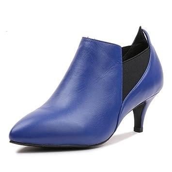Señoras Botas de martin Tacones altos mujer Y botas desnudas Botas de tobillo altas ocasionales Botas
