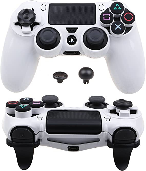 Pandaren® ULTRA ARMOR GEAR Funda de la caja FPS para Mando PS4 (blanco): Amazon.es: Videojuegos