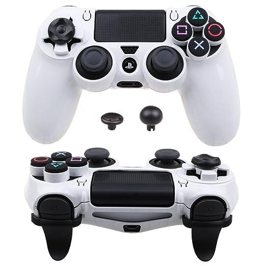 Pandaren® ULTRA ARMOR GEAR Funda de la caja FPS para Mando PS4 (blanco)