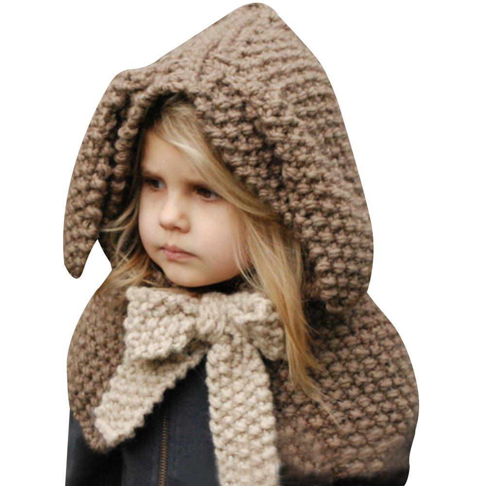 ELFJOY Unisex Baby Knitted Elf Style Pom Hat Winter Kid Warm Soft Fleece Lined Cap