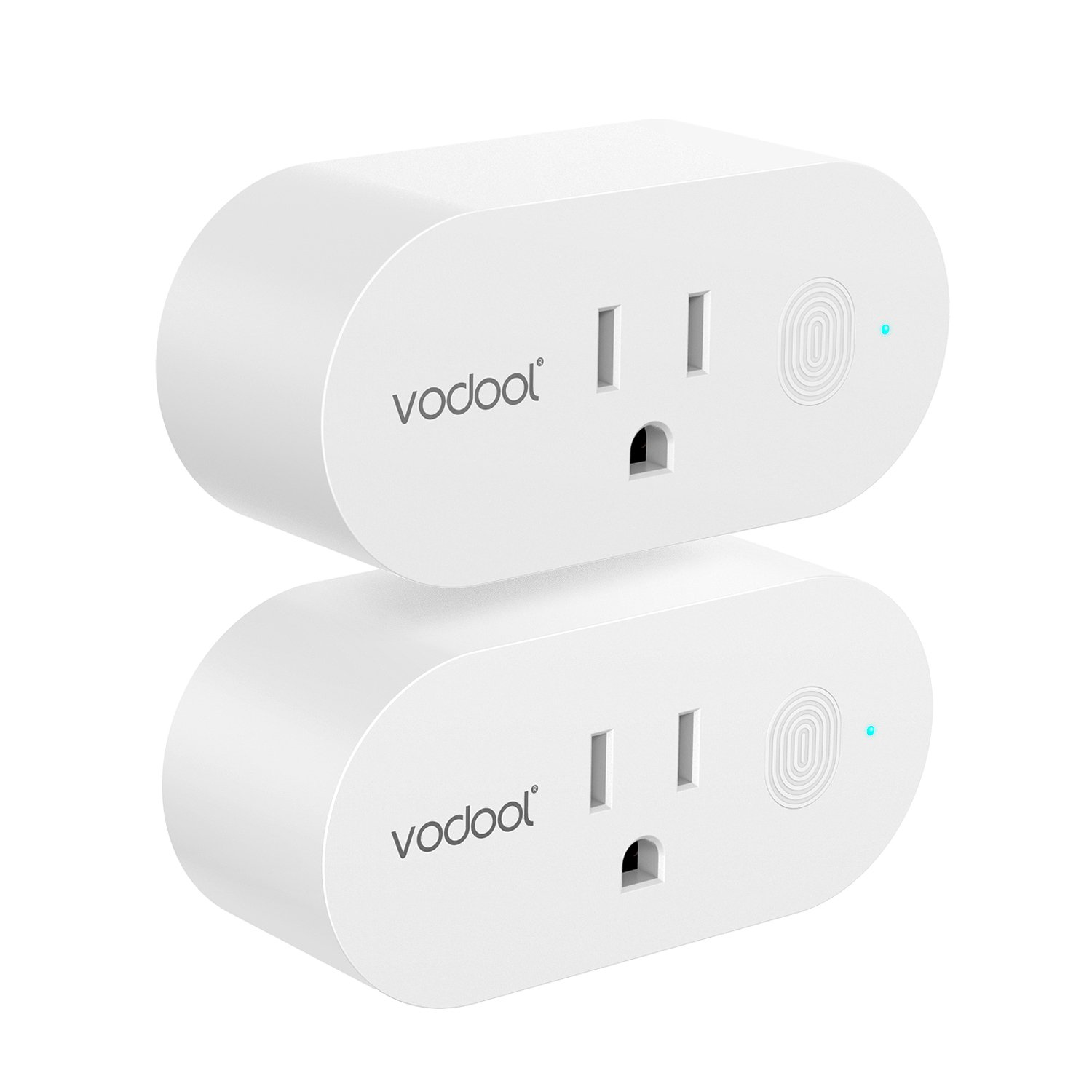 Smart Plug, VODOOL Mini Wi-Fi Outlet Compatible With Amazon Alexa and Google Assistant with Remote Control, Energy Monitoring, Schedule and Timer Function, No Hub Required, 16A (2 Pack)