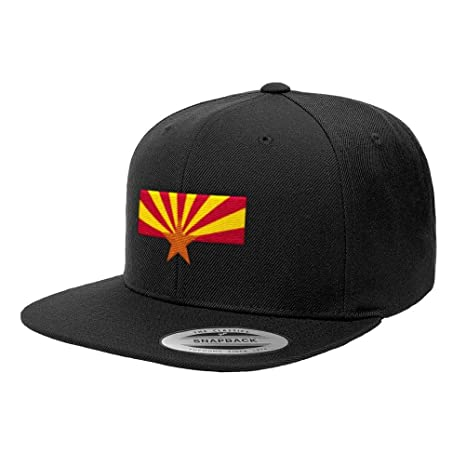 d606b03c Amazon.com: Chicago Flag Hats Arizona State Flag Premium Classic Snapback  Hat 6089M - Black: Sports & Outdoors