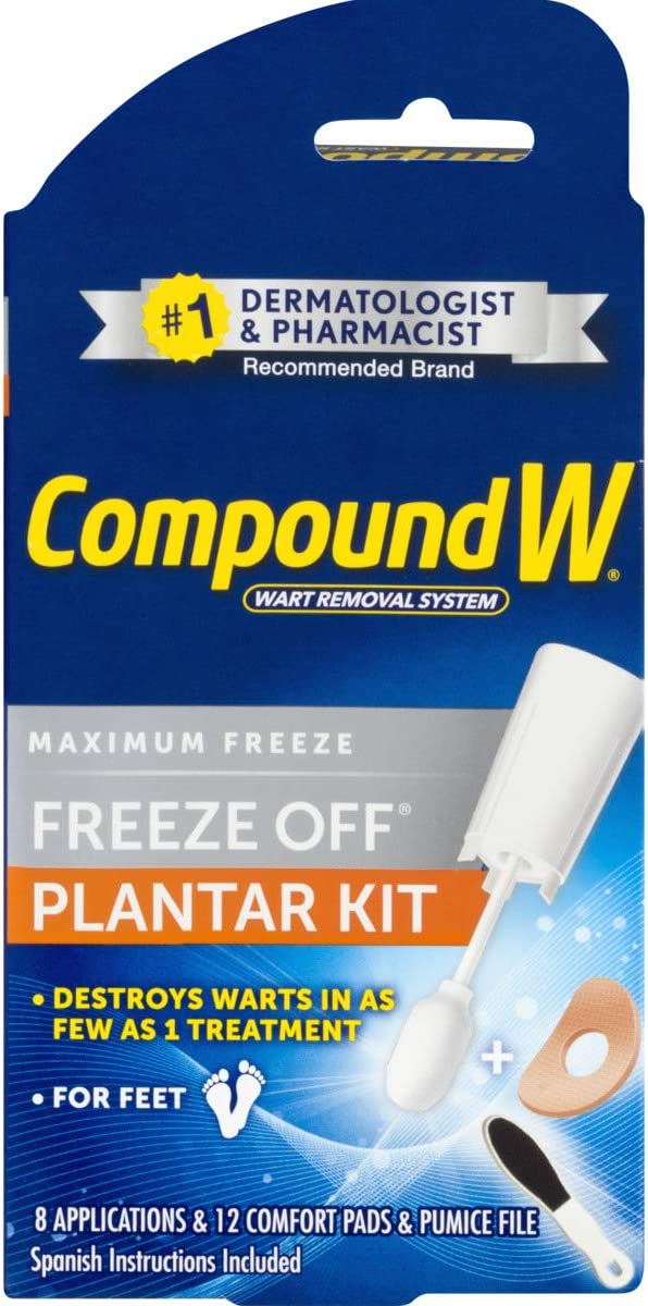 Compound W Freeze Off Plantar Wart Remover Kit, 8 Applications: Health & Personal Care