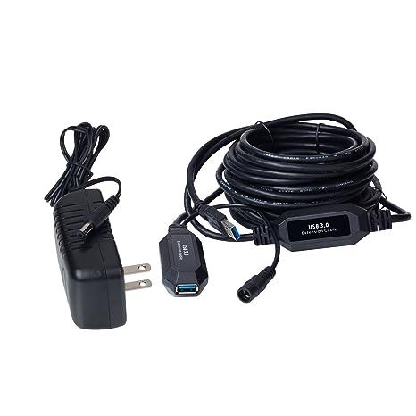 Cable de extensión USB 3.0 activo, 32.8ft (10 m) repetidor Booster ...