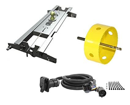 "amazon com b&w hitches gnrk1197 turnoverball gooseneck hitch kit w 1979 ford truck wiring harness b&w hitches gnrk1197 turnoverball gooseneck hitch kit w 4"" hole saw drill bit &"