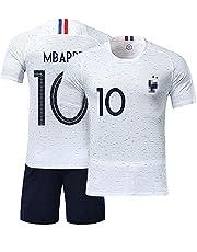 427547f9abcdb TUUT Maillots de Sport Garçon Football T-Shirt et Short France 2 Étoiles  Vêtements de