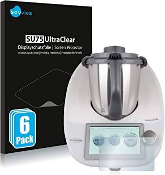 savvies Protector Pantalla Compatible con Vorwerk Thermomix TM6 (6 Unidades) Pelicula Ultra Transparente: Amazon.es: Electrónica