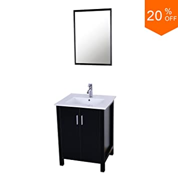 eclife sales promotion modern bathroom vanity and sink combo stand cabinet and white