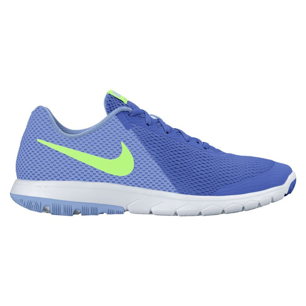 NIKE Women's Flex Experience RN 6 Running Shoe B01H5W5LDG 6 B(M) US|Medium Blue/Ghost Green/Aluminum/White