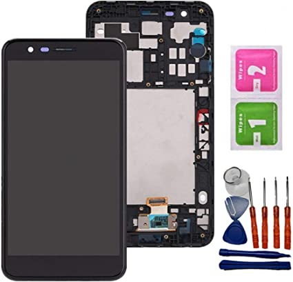 iFixmate LCD Screen Replacement Touch digitizer with H Flex and Frame Pre Assembled for LG K20 Plus T-Mobile TP260 MP260 K10 2017 Black